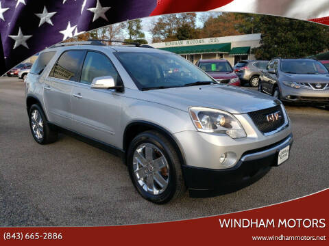 2010 GMC Acadia for sale at Windham Motors in Florence SC