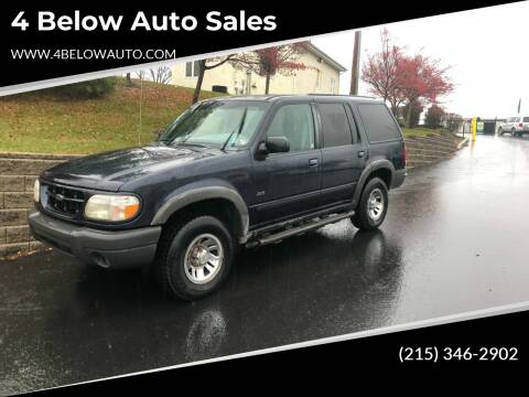 1999 Ford Explorer for sale at 4 Below Auto Sales in Willow Grove PA