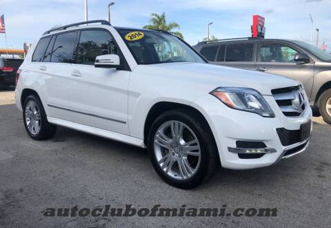 2014 Mercedes-Benz GLK for sale at AUTO CLUB OF MIAMI in Miami FL