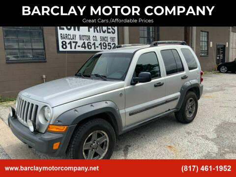 2006 Jeep Liberty for sale at BARCLAY MOTOR COMPANY in Arlington TX