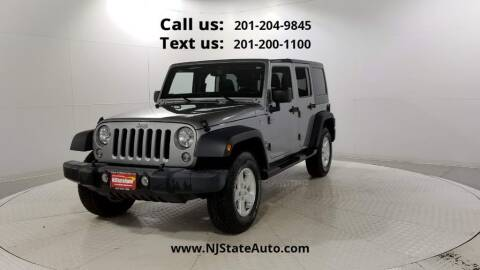 2016 Jeep Wrangler Unlimited for sale at NJ State Auto Used Cars in Jersey City NJ
