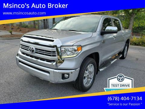 2015 Toyota Tundra for sale at Msinco's Auto Broker in Snellville GA