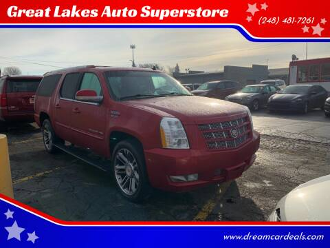 2013 Cadillac Escalade ESV for sale at Great Lakes Auto Superstore in Pontiac MI