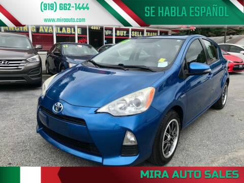 2012 Toyota Prius c for sale at Mira Auto Sales in Raleigh NC