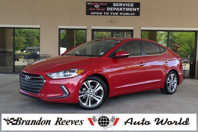 2017 Hyundai Elantra for sale at Brandon Reeves Auto World in Monroe NC