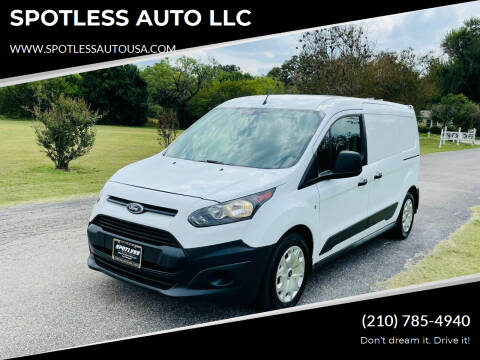 2016 Ford Transit Connect Cargo for sale at SPOTLESS AUTO LLC in San Antonio TX