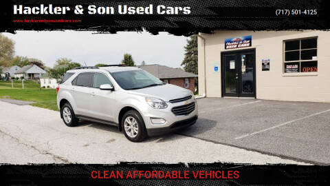 2017 Chevrolet Equinox for sale at Hackler & Son Used Cars in Red Lion PA
