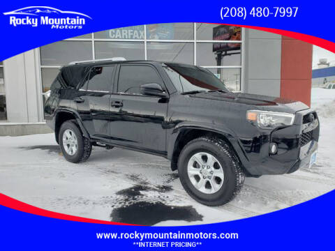 2017 Toyota 4Runner for sale at Rocky Mountain Motors in Idaho Falls ID
