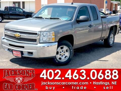 2013 Chevrolet Silverado 1500 for sale at Jacksons Car Corner Inc in Hastings NE