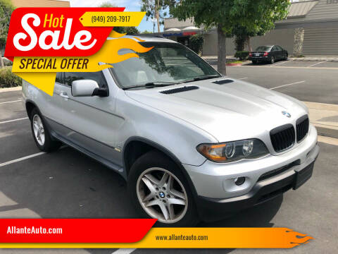 2004 BMW X5 for sale at AllanteAuto.com in Santa Ana CA