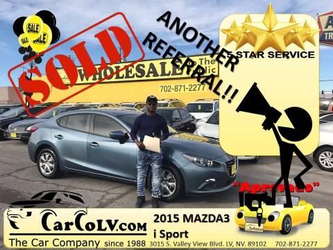 2015 Mazda MAZDA3 for sale at The Car Company in Las Vegas NV