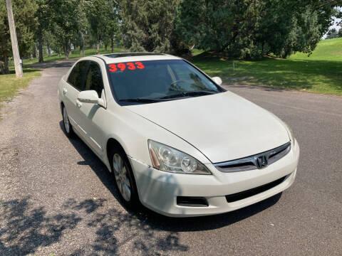 2006 Honda Accord for sale at BELOW BOOK AUTO SALES in Idaho Falls ID