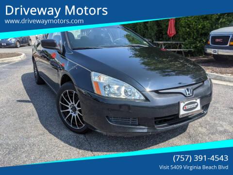 2004 Honda Accord for sale at Driveway Motors in Virginia Beach VA