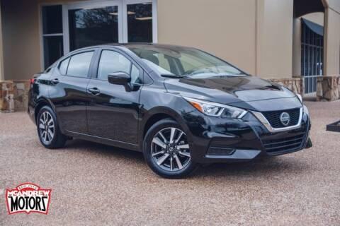 2021 Nissan Versa for sale at Mcandrew Motors in Arlington TX