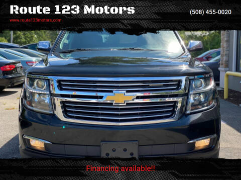 2015 Chevrolet Tahoe for sale at Route 123 Motors in Norton MA