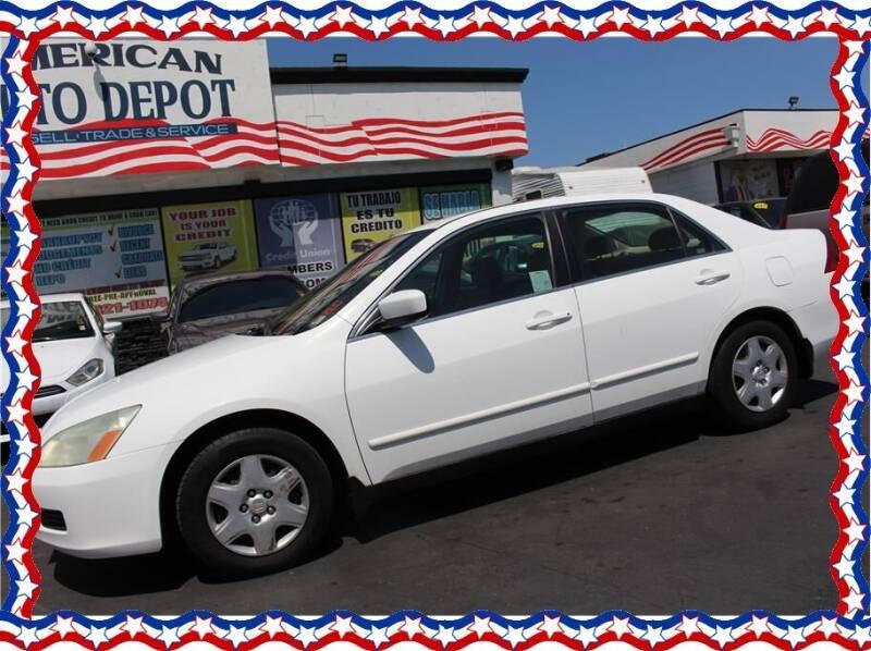 2007 Honda Accord for sale at American Auto Depot in Modesto CA