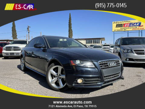 2012 Audi A4 for sale at Escar Auto in El Paso TX