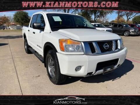 2014 Nissan Titan for sale at KIAN MOTORS INC in Plano TX