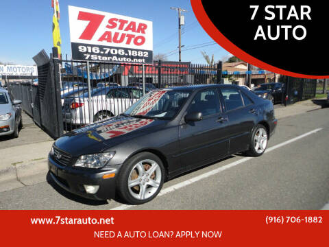 2003 Lexus IS 300 for sale at 7 STAR AUTO in Sacramento CA