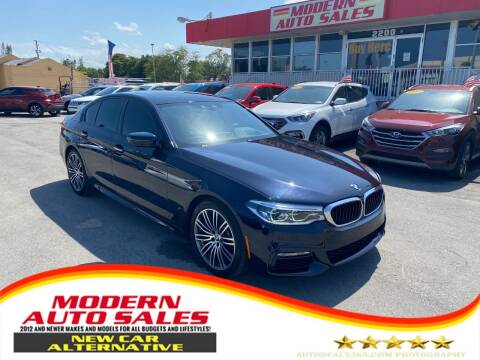 2018 BMW 5 Series for sale at Modern Auto Sales in Hollywood FL