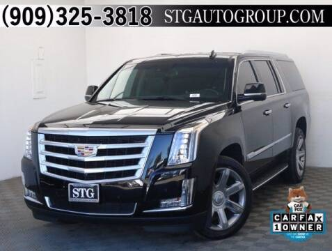 2018 Cadillac Escalade ESV for sale at STG Auto Group in Montclair CA