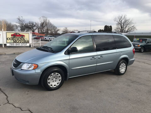 2003 Chrysler Town and Country for sale at Cordova Motors in Lawrence KS
