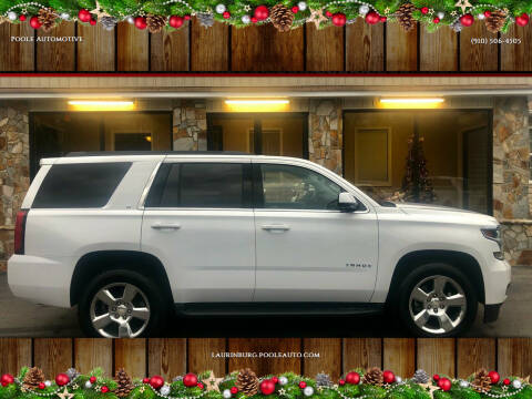 2017 Chevrolet Tahoe for sale at Poole Automotive in Laurinburg NC