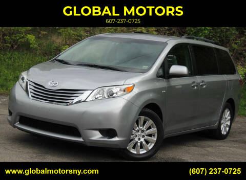 2016 Toyota Sienna for sale at GLOBAL MOTORS in Binghamton NY