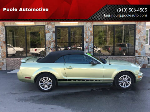2005 Ford Mustang for sale at Poole Automotive in Laurinburg NC
