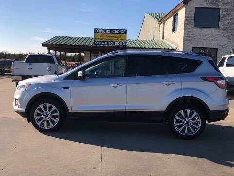 2017 Ford Escape for sale at Driver's Choice in Sherman TX