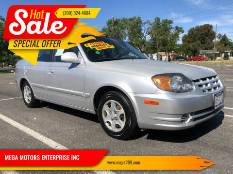 2003 Hyundai Accent for sale at MEGA MOTORS ENTERPRISE INC in Modesto CA