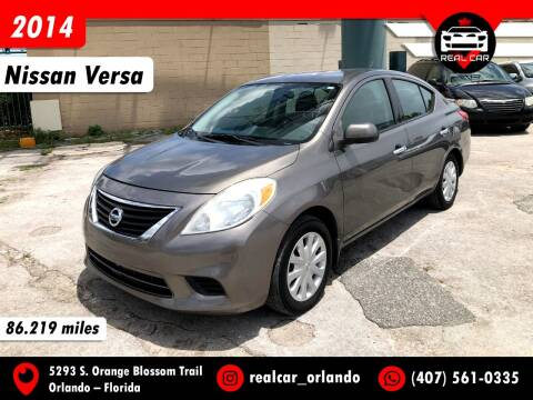 2014 Nissan Versa for sale at Real Car Sales in Orlando FL
