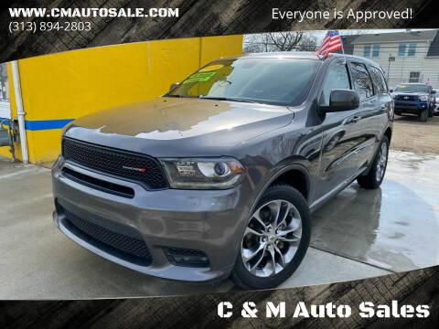 2019 Dodge Durango for sale at C & M Auto Sales in Detroit MI