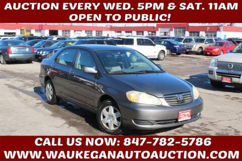 2007 Toyota Corolla for sale at Waukegan Auto Auction in Waukegan IL