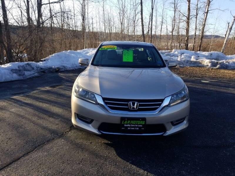 2013 Honda Accord for sale at L & R Motors in Greene ME