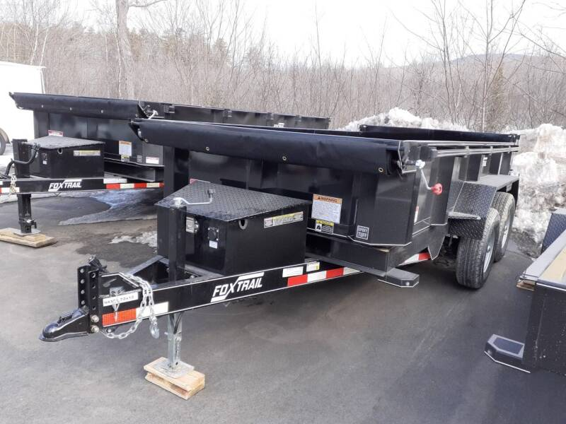 """2021 Foxtrail 72""""x12' Master Dump Trailer for sale at Mascoma Auto INC in Canaan NH"""