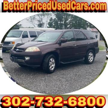 2002 Acura MDX for sale at Better Priced Used Cars in Frankford DE