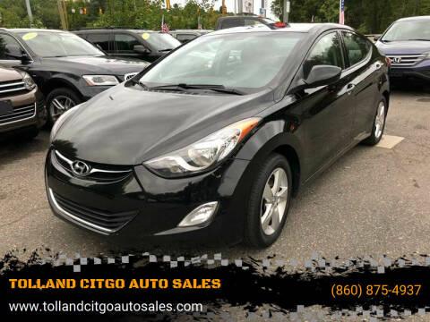 2013 Hyundai Elantra for sale at TOLLAND CITGO AUTO SALES in Tolland CT