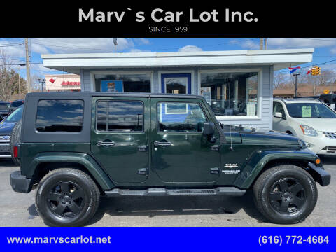 2010 Jeep Wrangler Unlimited for sale at Marv`s Car Lot Inc. in Zeeland MI