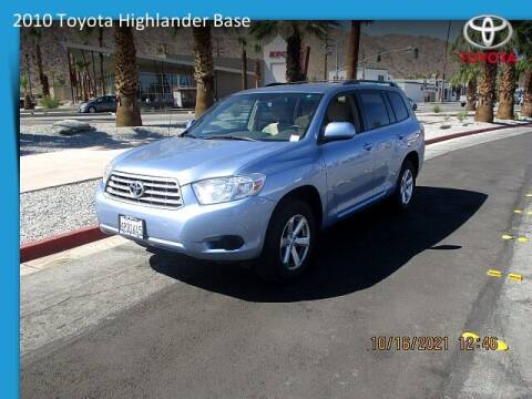 2010 Toyota Highlander for sale at One Eleven Vintage Cars in Palm Springs CA