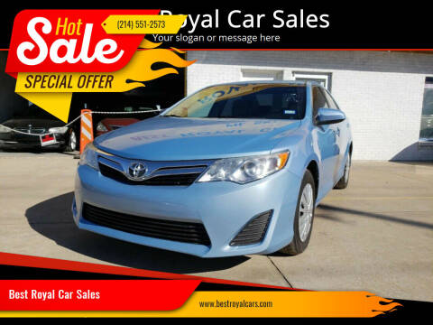 2013 Toyota Camry for sale at Best Royal Car Sales in Dallas TX