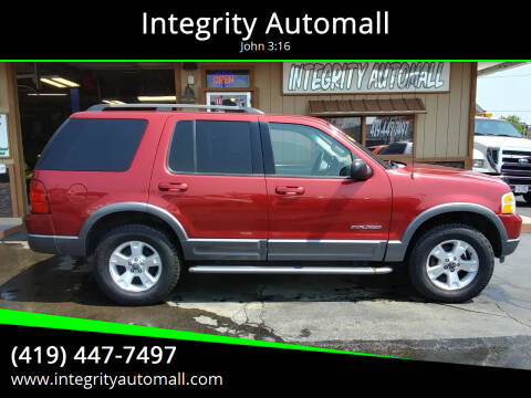 2004 Ford Explorer for sale at Integrity Automall in Tiffin OH