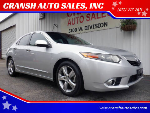 2012 Acura TSX for sale at CRANSH AUTO SALES, INC in Arlington TX