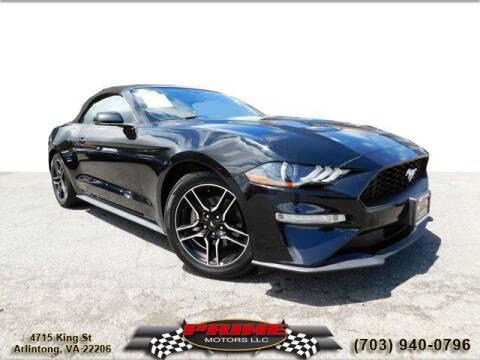 2019 Ford Mustang for sale at PRIME MOTORS LLC in Arlington VA