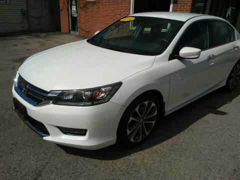 2014 Honda Accord for sale at BELLEFONTAINE MOTOR SALES in Bellefontaine OH