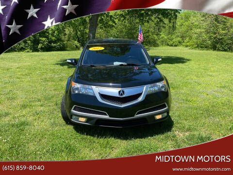 2012 Acura MDX for sale at Midtown Motors in Greenbrier TN
