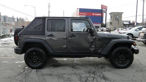 2017 Jeep Wrangler Unlimited for sale at AFFORDABLE MOTORS OF BROOKLYN in Brooklyn NY