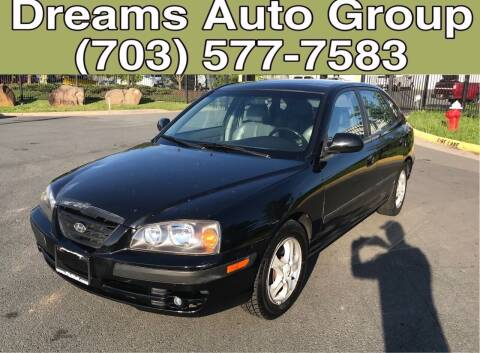 2004 Hyundai Elantra for sale at Dreams Auto Group LLC in Sterling VA