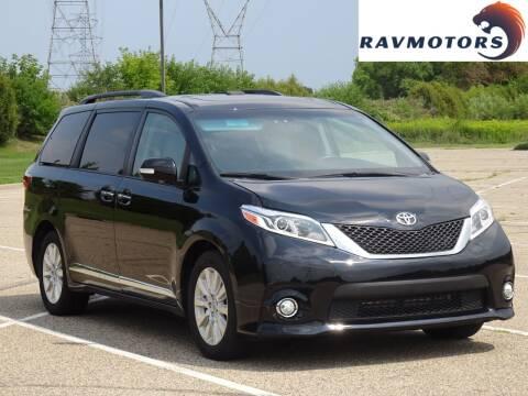 2015 Toyota Sienna for sale at RAVMOTORS in Burnsville MN