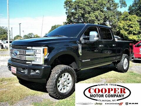 2017 Ford F-350 Super Duty for sale at Cooper Motor Company in Clinton SC